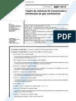 Nbr 12712 - Projeto de Sistemas de Transmissao E Distribuicao de Gas Combustivel