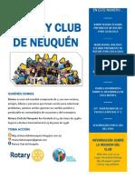 Boletín 03-Septiembre- Año 2017-2018 Rotary Club de Neuquén