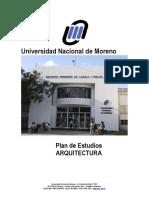 Plan de Estudios de La Carrera Arquitectura y Urbanismo