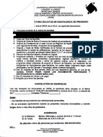 Requisitos de Equivalencia
