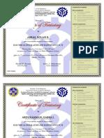 EIM Certificate