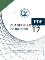 Cuadernillo Del Ingresante FHYCS 2017
