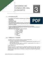 Modulo Del Curso - Organos y Maquinas- Tranformacion de Movimientos 1