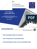 Workshop Transferable Skills