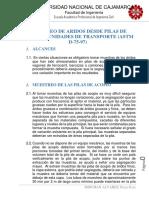 ASTM D-75 Muestreo de Aridos Desde Pilas de Acopio