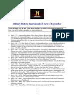 Military History Anniversaries 0901 Thru 0915