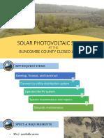 Buncombe County solar farm presentation