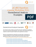 geotechnical Examples opensees