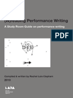 (W)reading Performance Writing