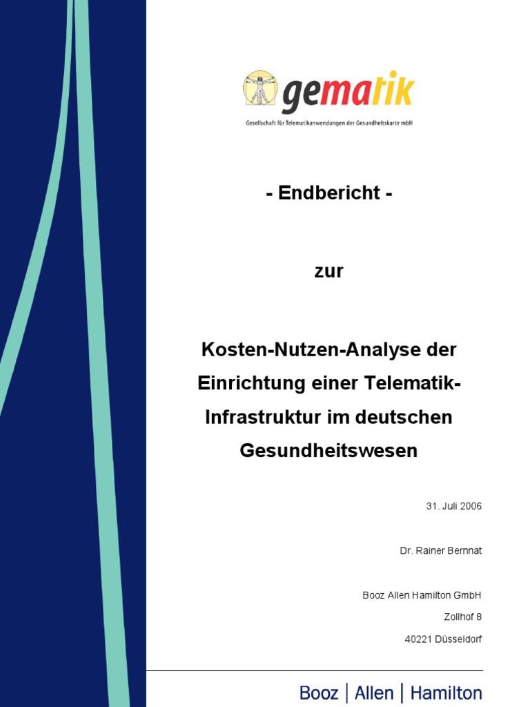 gematik: Kosten-Nutzen-Analyse der Einrichtung einer Telematik ...