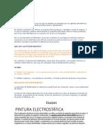 Fosfatizado de La Pintura electrostática