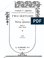 2 Sketches Based on Indian Themes by Griffes Score