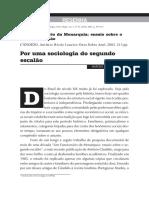 SOCIOLOGIA DO SEGUNDO ESCALÃO