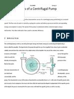 Characteristics of a Centrifugal Pump2