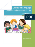 Plan de clases de Lenguaje.