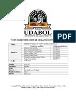 Monografía Fiebre Tifoidea en Niños de 1 a 8 Años de Bajos Recursos Economicos UDABOL MEDICINA