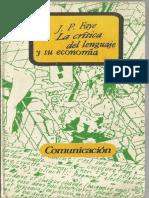 0. Faye Jean-Pierre - La Crítica Del Lenguage y Su Economía.compressed