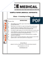 Ace of PACE Medical Sample Paper
