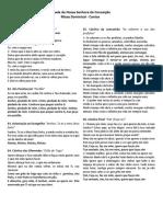 folheto de cantos - missa 03-09-2017