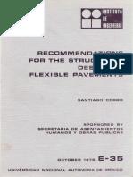 35. Recomendaciones Para Diseno Estructural de Pavimentos Flexibles