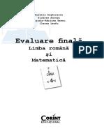 Evaluare Romana Matematica Cls 4 Arghirescu