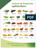 Frutas Verduras Septiembre