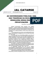 Jornal Catarse 76 de Setembro 2017