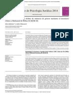 Valoración Psicológica en Delitos de Violencia de Género Mediante El Inventario Clínico y Multiaxial de Millon III (MCMI-III)