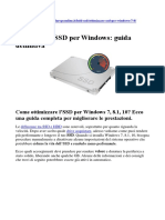Ottimizzare SSD