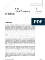 The Rouble as the Settlement Currency of the CIS