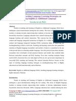 Impact of Teaching Language Learning Strategies on Learning English as Additional Language