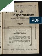 Brazila Esperantisto, Julio-septembro 1922