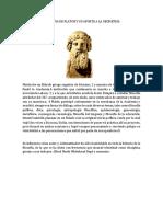 Biografia de Platon y Su Aporte a La Geometria