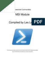 Powershell Commandlets - MSI Module
