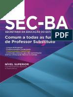 Apostila SEC BA Comum a Todas as Funções de Professor Substituto 2017 Grupo Nova