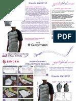 Instrucciones de Costura de La Playera Para Jovenes y Adultos HM1311p