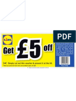 Lidl Evoucher - £5 off 12 Aug 10 to 15 Aug 10