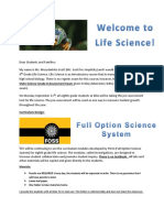 parent letter life science expectations eda