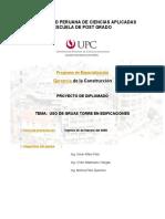 UPC Uso de Grua Torre