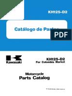 Manual de partes KH 125 D2 1987