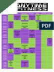 Official Class Schedule PDF
