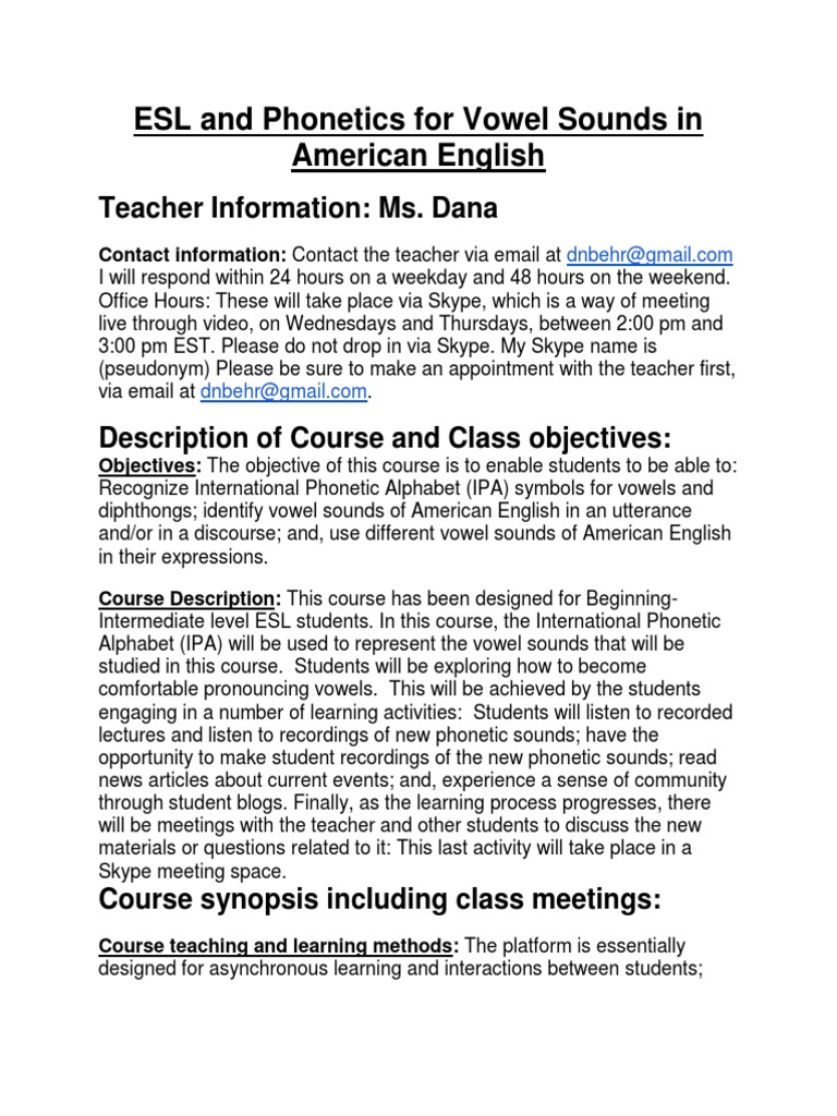 Phonetics for vowel sounds in american english for tesol phonetics for vowel sounds in american english for tesol etiquette english language buycottarizona