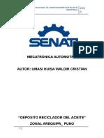 Deposito Reciclador de Aceite- Waldir Hu