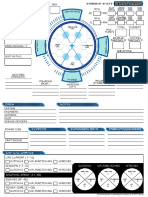 picture regarding Starfinder Character Sheet Printable referred to as Starfinder RPG - Send out Sheet Marine Accidents Transport