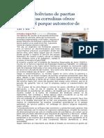 Inventor boliviano de puertas electrónicas corredizas ofrece mejorar el parque automotor de La Paz.docx