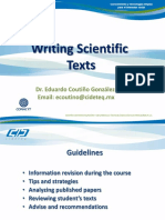 Writing Scientific Texts PhD Students