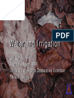 Water and Irrigation for Master Gardeners
