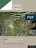 (Social Cognition and Social Neuroscience) Patrick Haggard, Baruch Eitam-The Sense of Agency-Oxford University Press (2015)