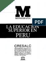 La Educación Superior en Perú 1988