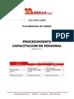 Procedimiento de Capacitacion 2013